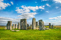 Stonehenge with Blue Sky, United Kingdom