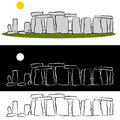 Stonehenge Drawing Stock Photos