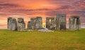 Stonehenge England Sunset Sky Royalty Free Stock Photo