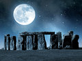 Stonehenge historical monument in night england uk Stock Photography