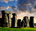 Stonehenge historical monument in the sunset england uk Royalty Free Stock Photography
