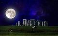 Stonehenge at night Royalty Free Stock Photo