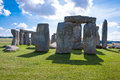 Stonehenge prehistoric monument near salisbury wiltshire engla ancient england unesco space for text Royalty Free Stock Photo