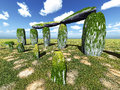 Stonehenge sanctuary near amesbury in england Stock Photos