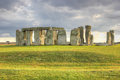 Stonehenge united kingdom england uk nature rocks seven sisters the journey to uk attraction misty landscape nature dramatic Stock Photos