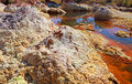 Stones by acidic river tinto in spain huelva Royalty Free Stock Photography