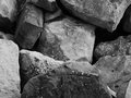 Stones in b w technique suitable for wallpaper or brochure Stock Photos