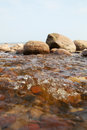 Stones at Baltic sea. Royalty Free Stock Photo