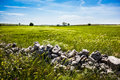 Stones in the country a beautiful rural landscape with some rocks south of italy apulia Stock Image