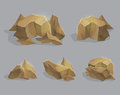 Stones, cracked rocks, mountain elements