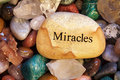 Stones, Crystals, Rocks, with Message Royalty Free Stock Photo