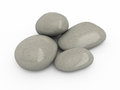 Stones d render isolated on white and clipping path Stock Photos