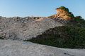 Stones in formentera typical landscape west shore of balearic islands spain may Royalty Free Stock Images