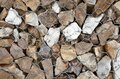 Stones in gabion, wire metal twisted mesh with stones, an element of landscape design Royalty Free Stock Photo