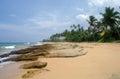 Stones on the idyllic beach in sri lanka Stock Images