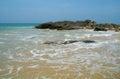 Stones on the idyllic beach in sri lanka Royalty Free Stock Photos