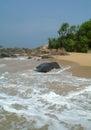 Stones on the idyllic beach in sri lanka Royalty Free Stock Images