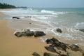 Stones on the idyllic beach in sri lanka Stock Image