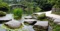 Stones In Pond Of Ritsurin Koe...