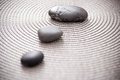 Stones representing zen, balance and meditation Royalty Free Stock Photos