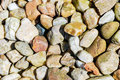 Stones on river bank smooth background texture Royalty Free Stock Photography