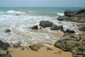 Stones on the sand beach sri lanka Royalty Free Stock Photography