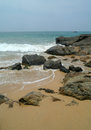 Stones on the sand beach sri lanka Stock Photos