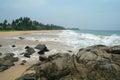 Stones on the sand beach sri lanka Stock Images