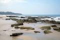 Stones on the sand beach ssi lanka Royalty Free Stock Photos