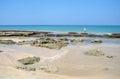 Stones on the sand beach ssi lanka Royalty Free Stock Photo