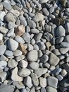 Stones transformed into pebbles with the help of the sea Royalty Free Stock Photo