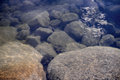 Stones under water Royalty Free Stock Photo