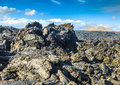 Stones of volcanic flow give a beautiful  structure Royalty Free Stock Photo