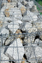 Stones in wire net Royalty Free Stock Photo