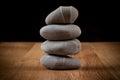Stones on wood Royalty Free Stock Photo