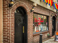 The stonewall inn new york city usa july gay pride flags are hanging outside in nyc Royalty Free Stock Photography