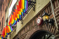 The stonewall inn new york city usa july gay pride flags are hanging outside in nyc Stock Photos
