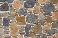 Stonewall mediterranean dry natural in the sun Royalty Free Stock Images
