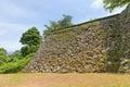 Stonewalls (ishigaki) of Uwajima castle, Uwajima town, Japan Royalty Free Stock Photo