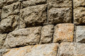 Stonework fragment of the old wall Royalty Free Stock Images