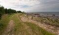 Stony beach by baltic sea Royalty Free Stock Photos