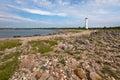 Stony beach by baltic sea Royalty Free Stock Image