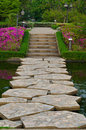 Stony Path through the garden Royalty Free Stock Image