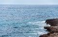 Stony shore mediterranean sea landscape Royalty Free Stock Photos