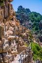 Stony walk path in Costa Paradiso, Sardinia, Italy