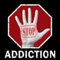 Stop addiction conceptual illustration. Social problem