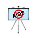 Stop aids flat panel on tripod with symbol Stock Photography