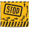 Stop banner Royalty Free Stock Photo