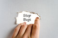Stop bugs text concept Royalty Free Stock Photo