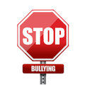 Stop bullying sign illustration design over white Royalty Free Stock Images